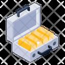 Gold Briefcase Icon