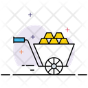 Gold Cart Gold Trolly Gold Mining Icon