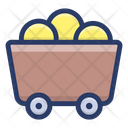 Gold Cart Gold Trolley Gold Mining Icon