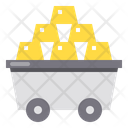Gold Stack Money Investment Icon