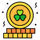 Gold Clover Coins Coin Gold Icon