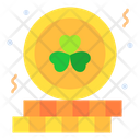 Gold Clover Coins Icon