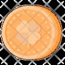 Gold Coin Leprechaun Treasure Icon