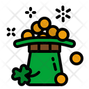 Gold Coin Hat Icon