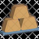 Gold Cubes Banking Billion Icon
