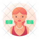 Gold digger woman Icon