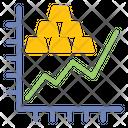 Statistic Graph Gold Icon