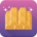 Gold Ingots Solid Icon