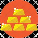 Gold Ingots Bars Icon