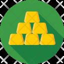 Gold Ingots Bricks Icon
