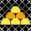 Gold Ingots Gold Bricks Gold Bars Icon