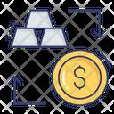Gold Ingots Dollar Coin Icon