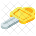 Gold Key Unlock Icon