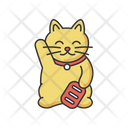Gold Maneki Neko Icon