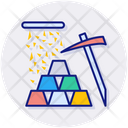 Gold Mining Gold Stock Icon