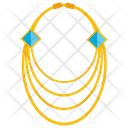 Gold Necklace Icon