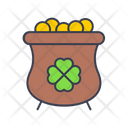 Gold Pot Gold Treasure Icon