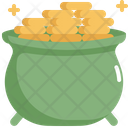 Pot Gold Saint Patricks Day Icon