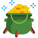 St Patrick Day Gold Pot Icon