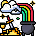 Gold Pot Gold Saint Patricks Day Icon