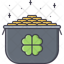 Pot Gold Leprechaun Icon
