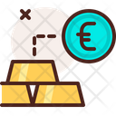 Gold Rate Gold Euro Money Exchange Icon