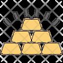 Billion Money Stack Gold Stack Icon