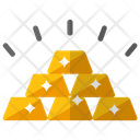 Gold Stack Gold Ingots Gold Bars Icon