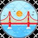 Golden Bridge Golden Gate Bridge Suspension Bridge Icon