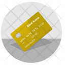 Golden Card Gold Icon