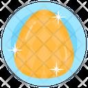 Gemstone Golden Diamond Emerald Icon