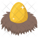 Golden Egg Easter Egg Decorative Egg Icon