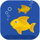 Gold Fishes Breathe Icon