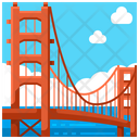 Golden Gate San Francisco Landmark Icon
