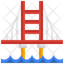 Golden Gate Monument United States Icon