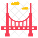 American Golden Bridge Golden Gate Overpass Icon