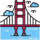 Golden Gate Bridge Architecture Bridge Icon