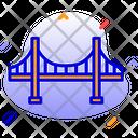Golden Gate Bridge San Francisco California Icon