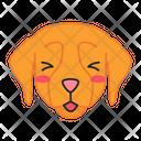 Golden Retriever Dog Smiling Icon