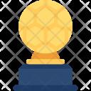 Golden Soccer Trophy Icon