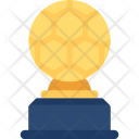 Golden Soccer Trophy Icon
