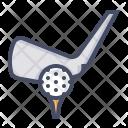 Golf Bat Ball Icon