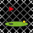 Golf Golf Ball Golf Flag Icon