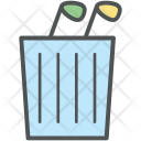 Golf Bag Stand Icon