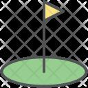 Golf Course Flag Icon