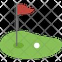 Golf Ball Golf Course Golf Field Icon