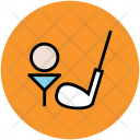 Golf Ball Tee Icon