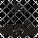 Flag Golf Sport Icon
