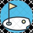 Golf Flag Hole Icon