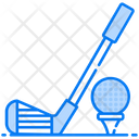 Golf Hit Golf Sports Accessory Icon
